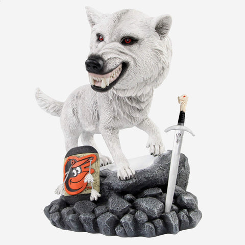 Baltimore Orioles Game Of Thrones Direwolf Bobblehead