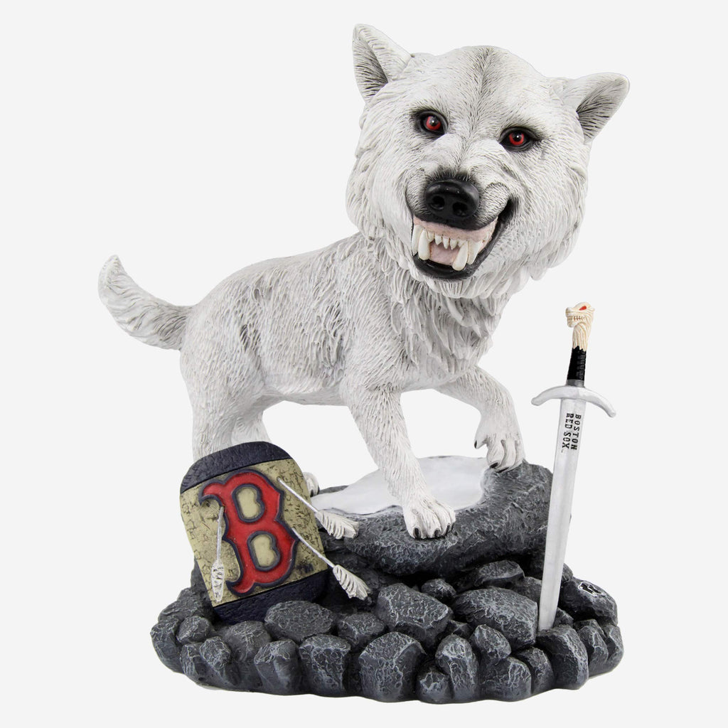 Boston Red Sox Game Of Thrones Direwolf Bobblehead FOCO - FOCO.com