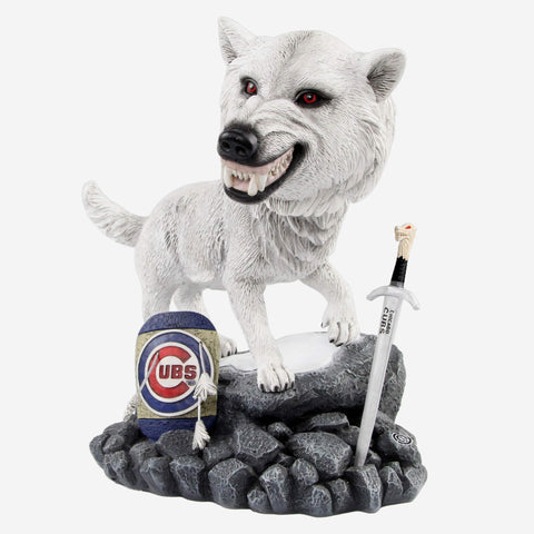 Chicago Cubs Game Of Thrones Direwolf Bobblehead