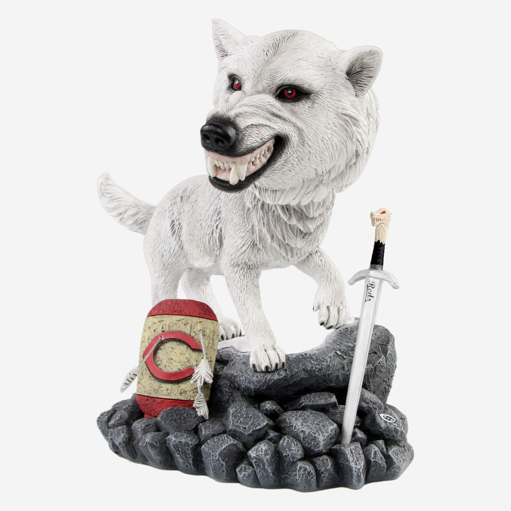 Cincinnati Reds Game Of Thrones Direwolf Bobblehead FOCO - FOCO.com