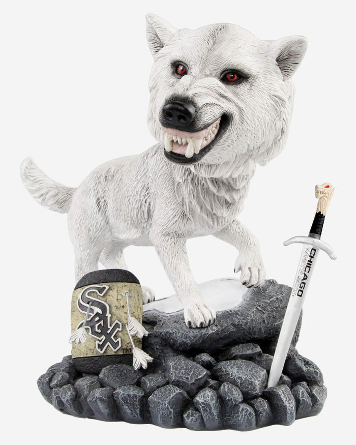 Chicago White Sox Game Of Thrones Direwolf Bobblehead FOCO - FOCO.com