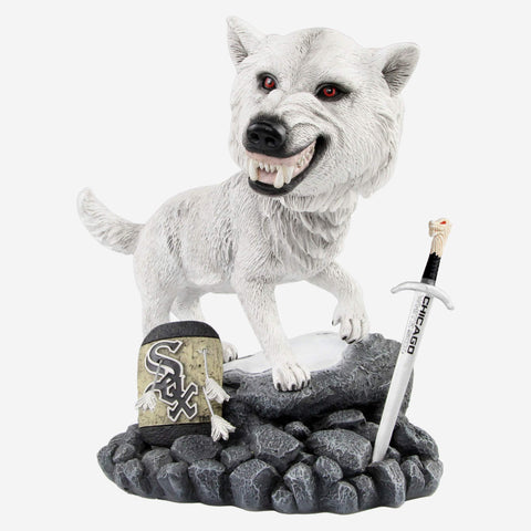 Chicago White Sox Game Of Thrones Direwolf Bobblehead