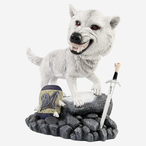 Milwaukee Brewers Game Of Thrones Direwolf Bobblehead