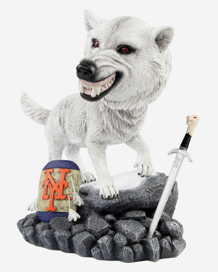 New York Mets Game Of Thrones Direwolf Bobblehead FOCO - FOCO.com