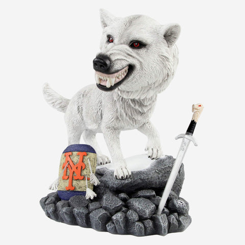 New York Mets Game Of Thrones Direwolf Bobblehead