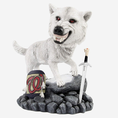 Washington Nationals Game Of Thrones Direwolf Bobblehead