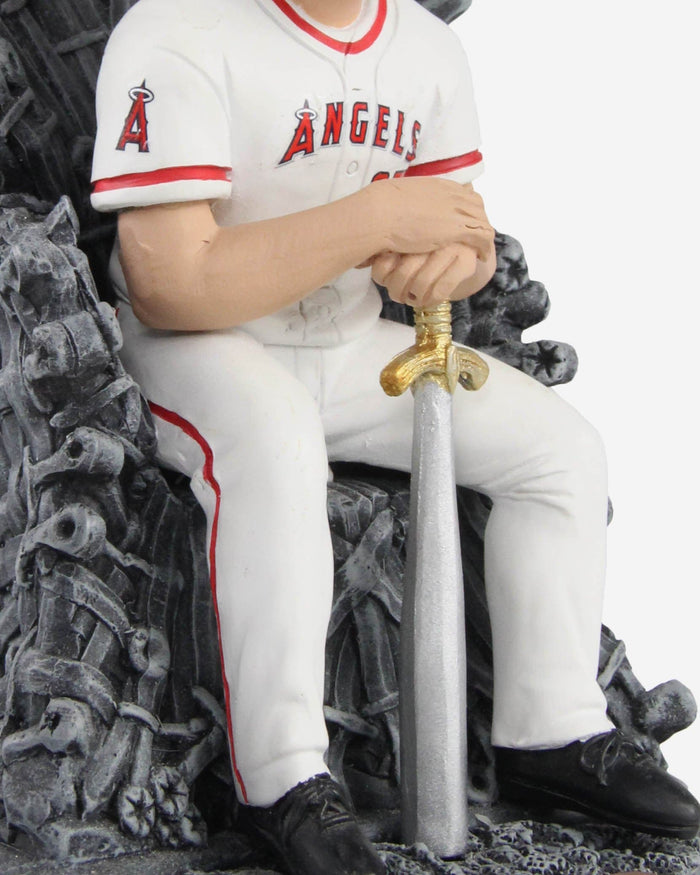 Los Angeles Angels Mike Trout Game Of Thrones Iron Throne Bobblehead FOCO - FOCO.com