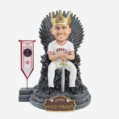 Los Angeles Angels Mike Trout Game Of Thrones Iron Throne Bobblehead
