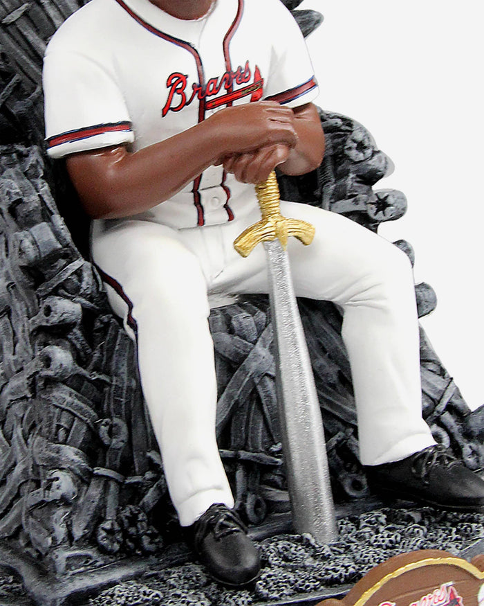 Atlanta Braves Ronald Acuna Jr Game Of Thrones Iron Throne Bobblehead FOCO - FOCO.com