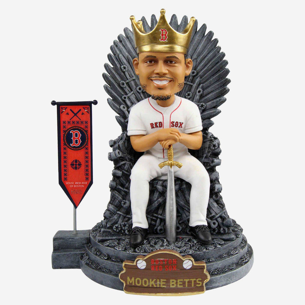 Boston Red Sox Mookie Betts Game Of Thrones Iron Throne Bobblehead FOCO - FOCO.com