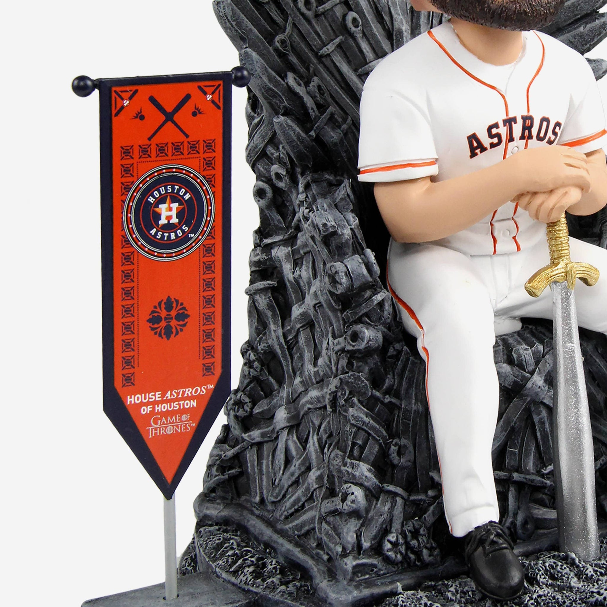 Houston Astros Jose Altuve Game Of Thrones Iron Throne Bobblehead FOCO - FOCO.com