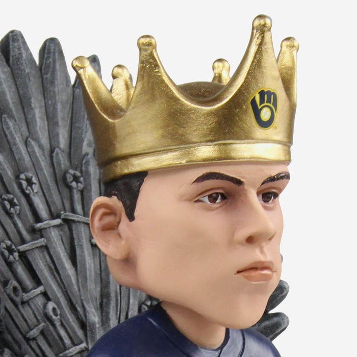 Milwaukee Brewers Christian Yelich Game Of Thrones Iron Throne Bobblehead FOCO - FOCO.com