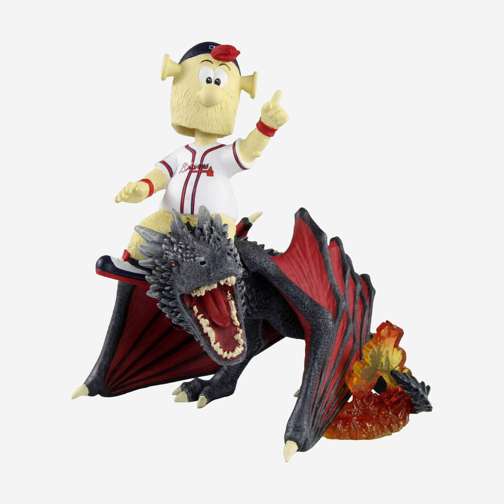 Atlanta Braves Blooper Game Of Thrones Mascot On Fire Dragon Bobblehead FOCO - FOCO.com