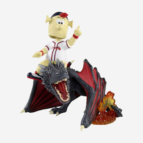 Atlanta Braves Blooper Game Of Thrones Mascot On Fire Dragon Bobblehead
