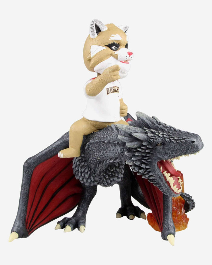 Arizona Diamondbacks D Baxter The Bobcat Game Of Thrones Mascot On Fire Dragon Bobblehead FOCO - FOCO.com