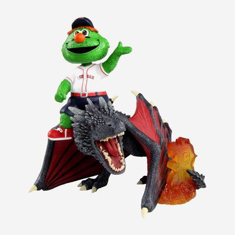 Boston Red Sox Wally The Green Monster Game Of Thrones Mascot On Fire Dragon Bobblehead