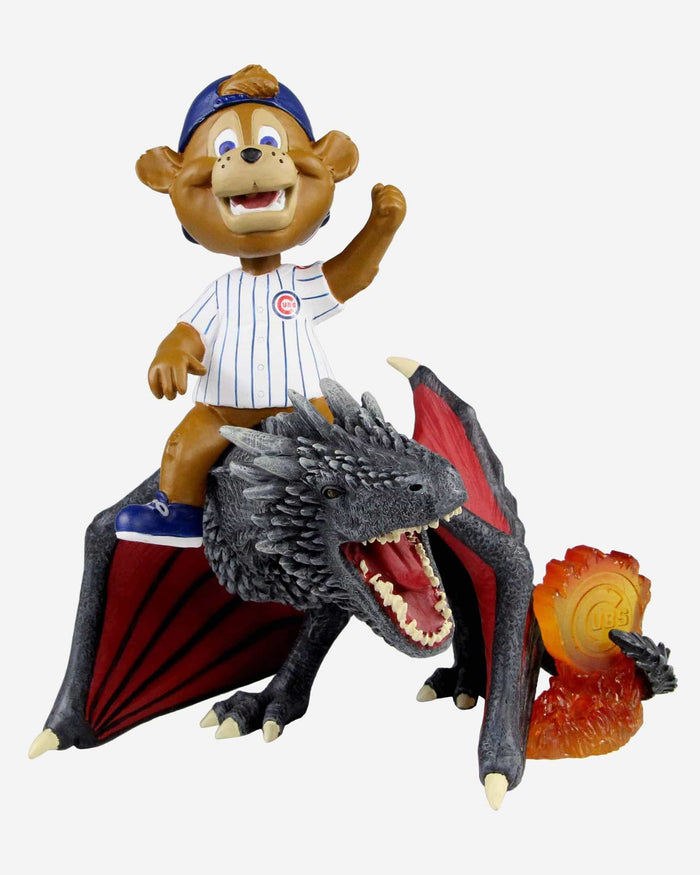 Chicago Cubs Clark Game Of Thrones Mascot On Fire Dragon Bobblehead FOCO - FOCO.com