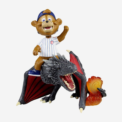 Chicago Cubs Clark Game Of Thrones Mascot On Fire Dragon Bobblehead