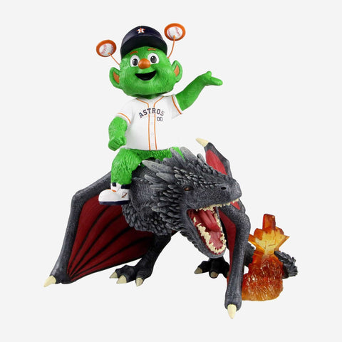 Houston Astros Orbit Game Of Thrones Mascot On Fire Dragon Bobblehead