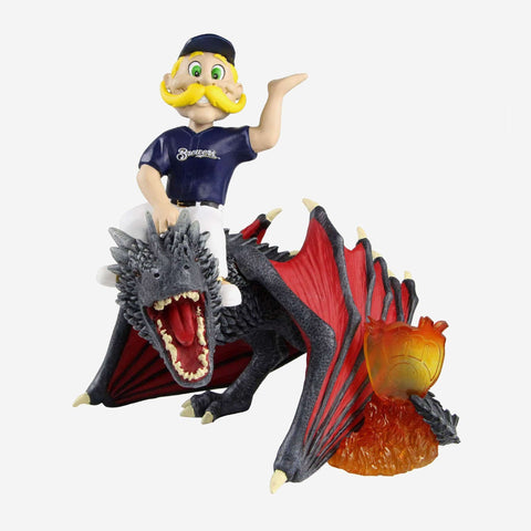 Milwaukee Brewers Bernie Brewer Game Of Thrones Mascot On Fire Dragon Bobblehead