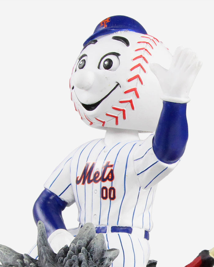 New York Mets Mr Met Game Of Thrones Mascot On Fire Dragon Bobblehead FOCO - FOCO.com
