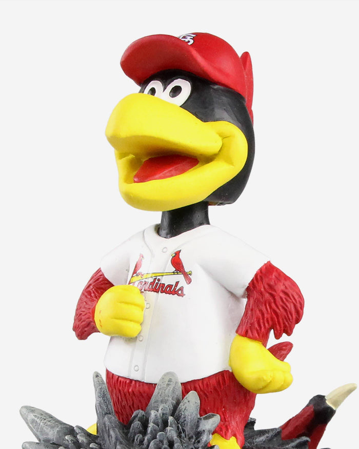 St Louis Cardinals Fredbird Game Of Thrones Mascot On Fire Dragon Bobblehead FOCO - FOCO.com