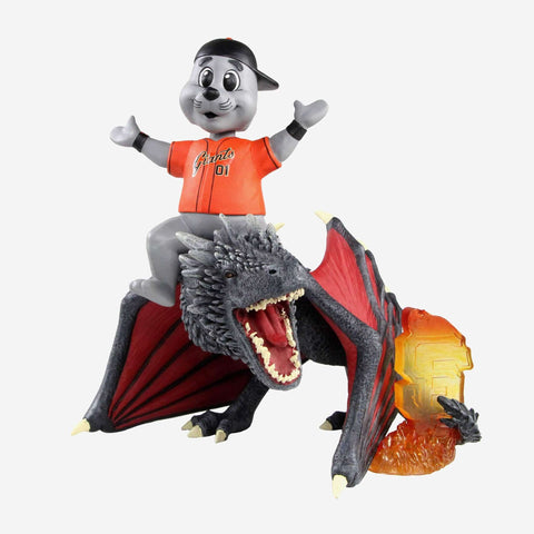 San Francisco Giants Lou Seal Game Of Thrones Mascot On Fire Dragon Bobblehead