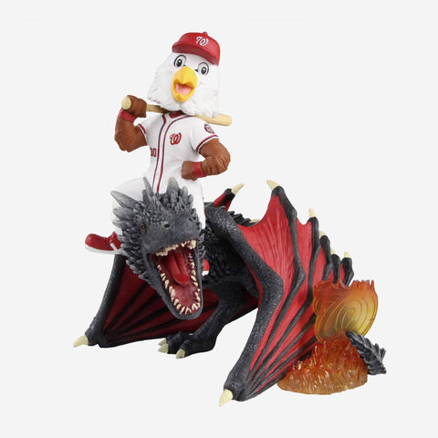 Washington Nationals Screech Game Of Thrones Mascot On Fire Dragon Bobblehead