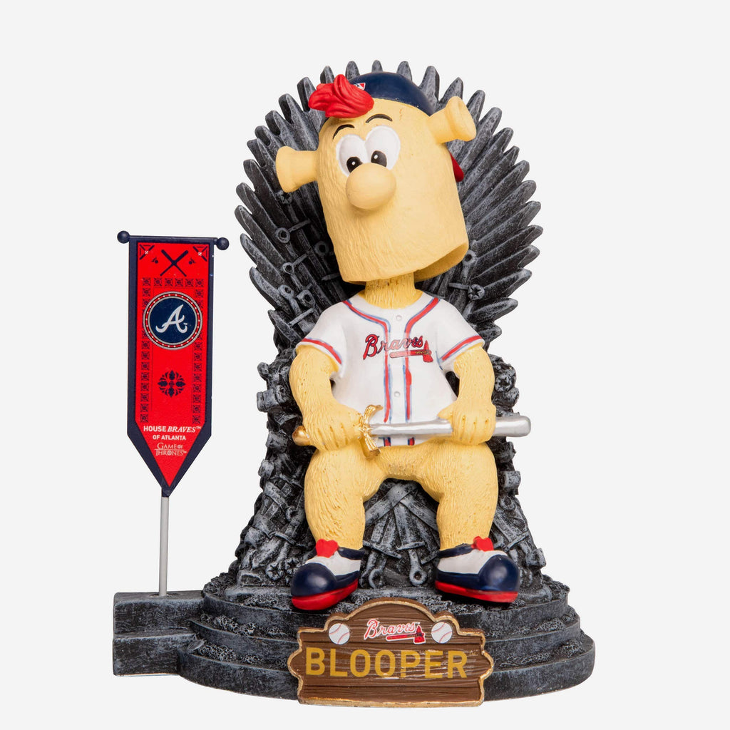 Atlanta Braves Blooper Game Of Thrones Mascot On Throne Bobblehead FOCO - FOCO.com