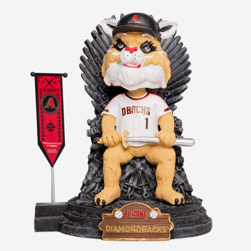 Arizona Diamondbacks D Baxter The Bobcat Game Of Thrones Mascot Bobblehead FOCO - FOCO.com