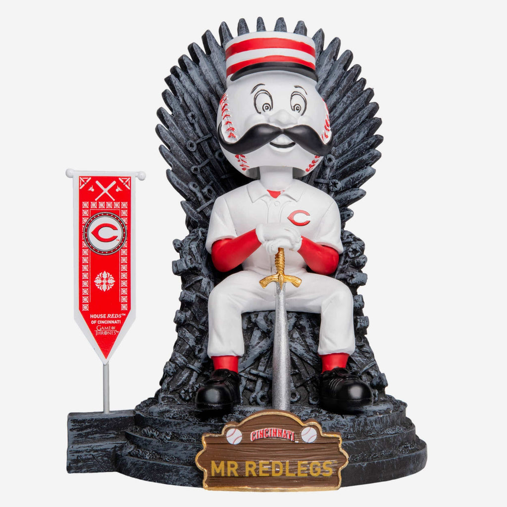 Cincinnati Reds Mr Redlegs Game Of Thrones Mascot Bobblehead FOCO - FOCO.com