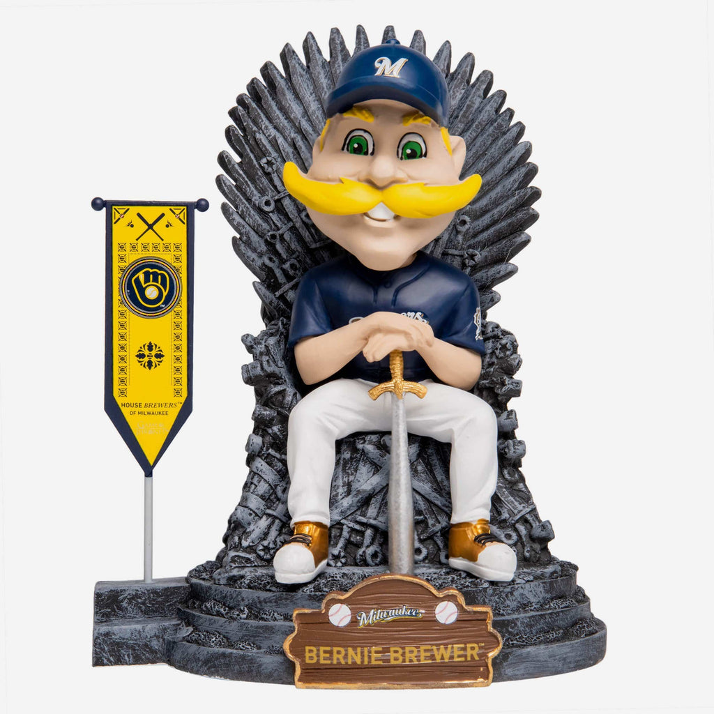 Milwaukee Brewers Bernie Brewer Game Of Thrones Mascot Bobblehead FOCO - FOCO.com