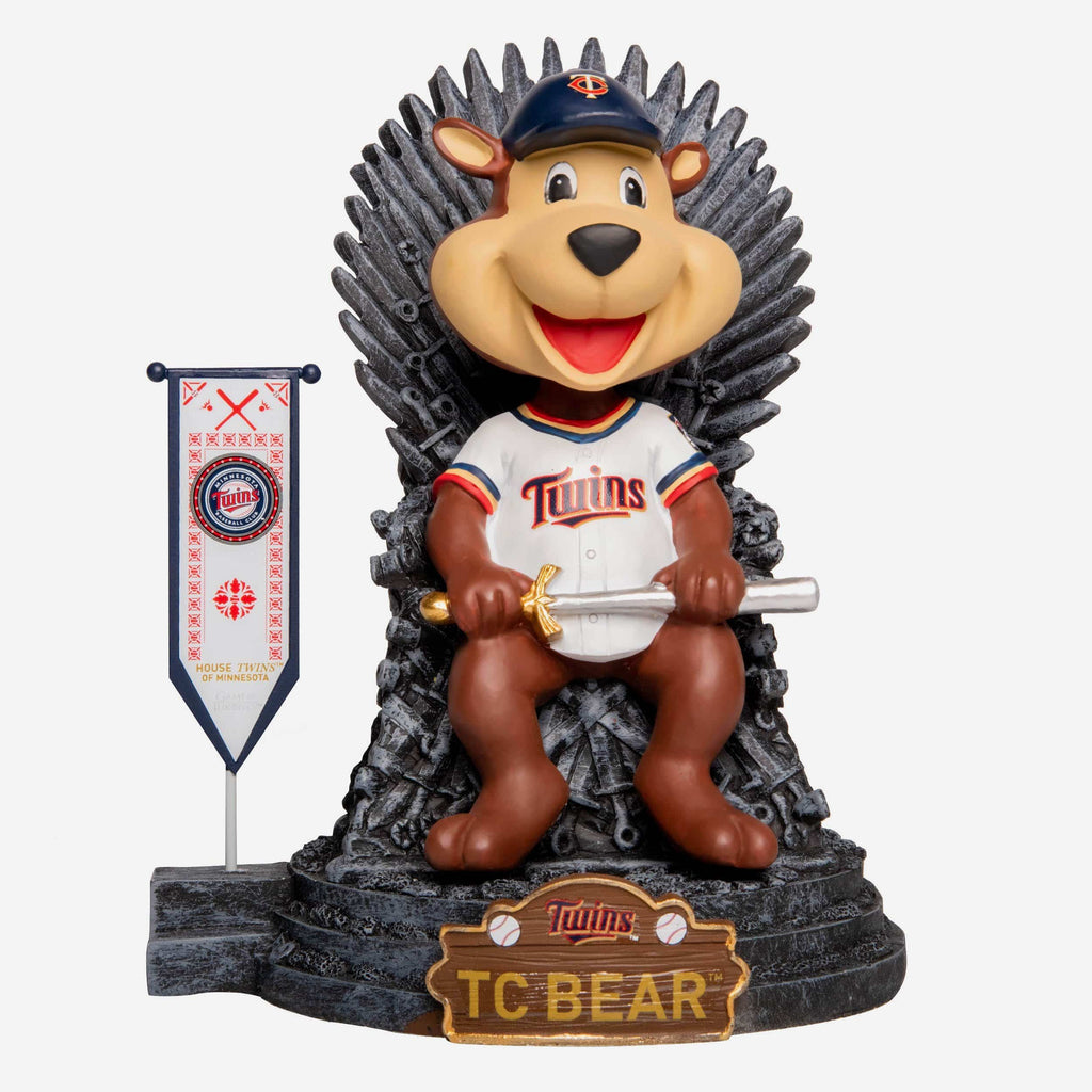 Minnesota Twins TC Bear Game Of Thrones Mascot Bobblehead FOCO - FOCO.com