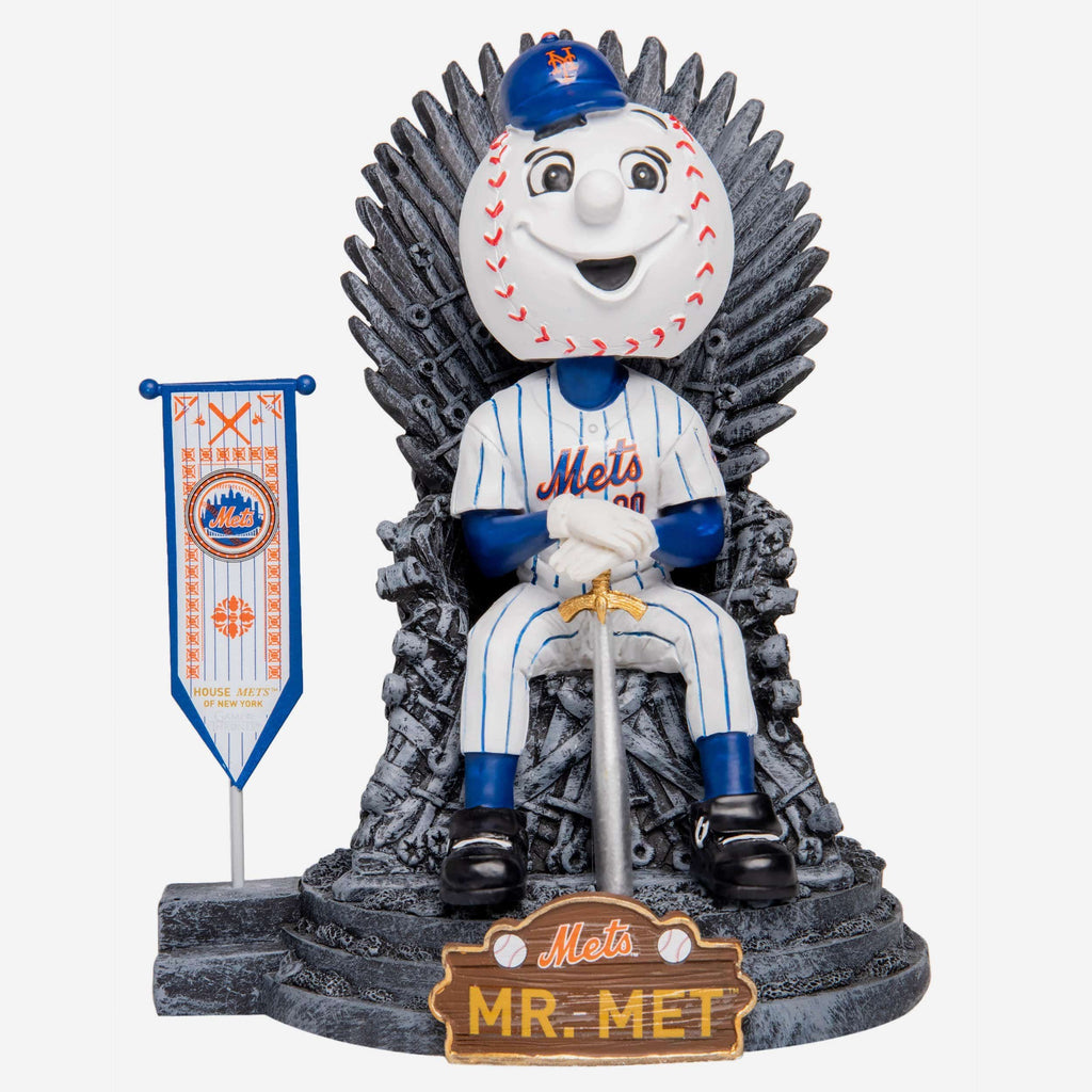 New York Mets Mr Met Game Of Thrones Mascot Bobblehead FOCO - FOCO.com