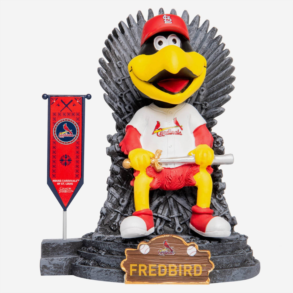 St Louis Cardinals Fredbird Game Of Thrones Mascot Bobblehead FOCO - FOCO.com