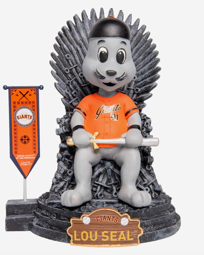 San Francisco Giants Lou Seal Game Of Thrones Mascot Bobblehead FOCO - FOCO.com
