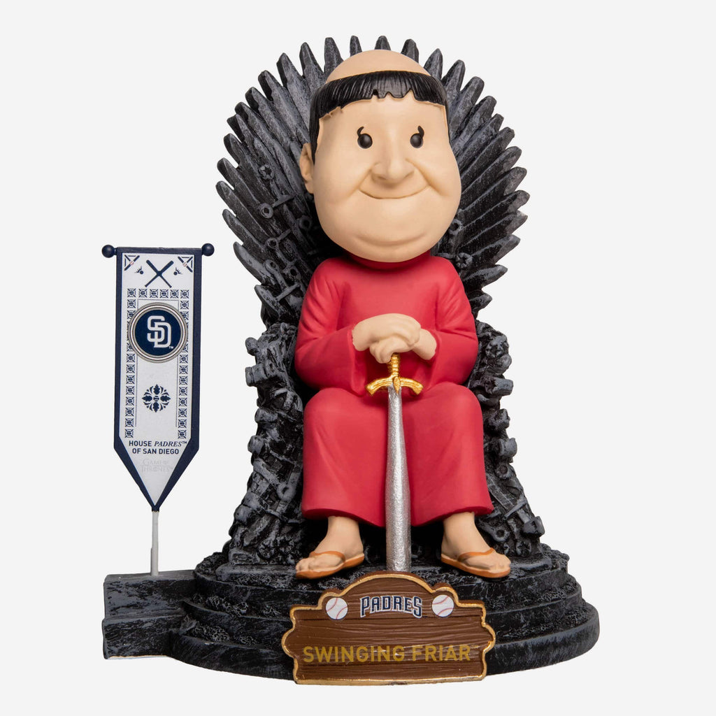 San Diego Padres Swinging Friar Game Of Thrones Mascot Bobblehead FOCO - FOCO.com
