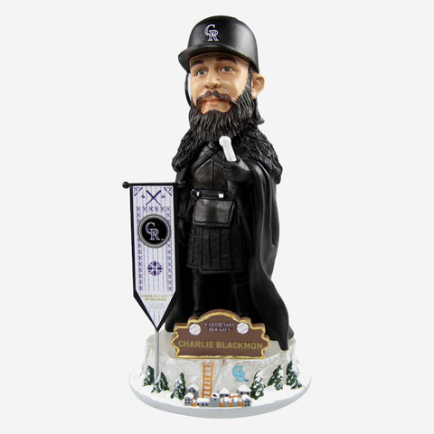 Colorado Rockies Charlie Blackmon Game Of Thrones Night's Watch Bobblehead