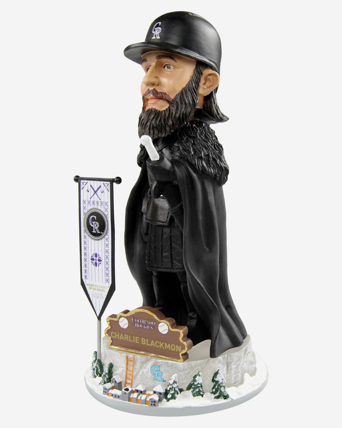 Colorado Rockies Charlie Blackmon Game Of Thrones Night's Watch Bobblehead FOCO - FOCO.com