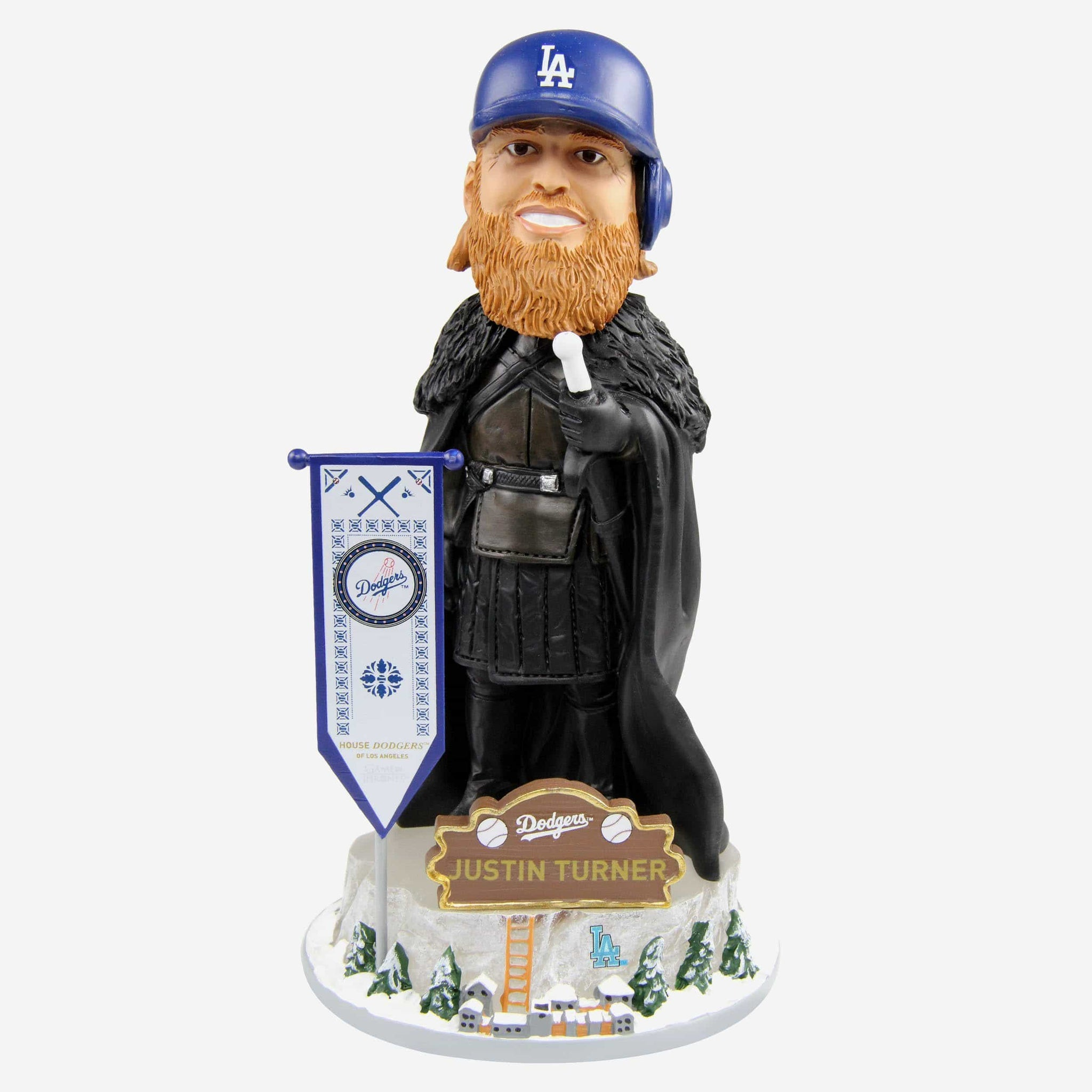 Los Angeles Dodgers Justin Turner Game Of Thrones Night's Watch Bobblehead FOCO - FOCO.com