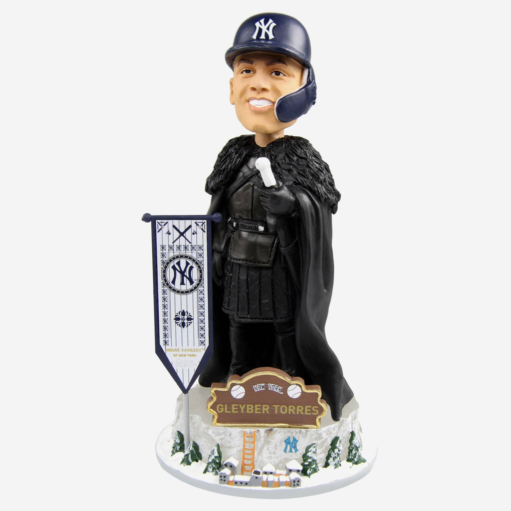New York Yankees Gleyber Torres Game Of Thrones Night's Watch Bobblehead FOCO - FOCO.com