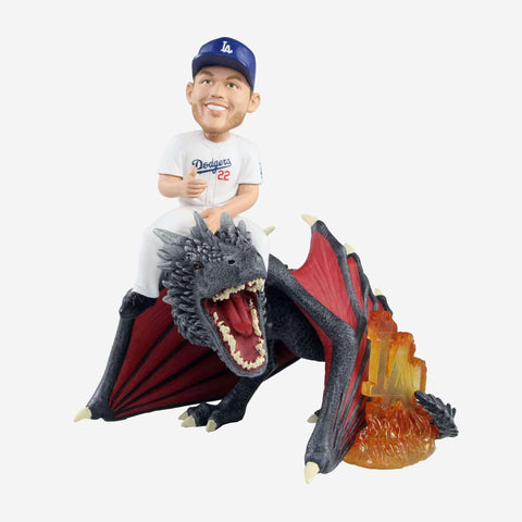 Los Angeles Dodgers Clayton Kershaw Game Of Thrones Fire Dragon Bobblehead