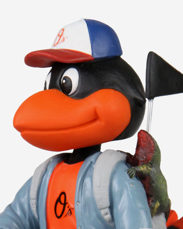 The Oriole Bird Baltimore Orioles Stranger Things Mascot On Bike Bobblehead FOCO - FOCO.com
