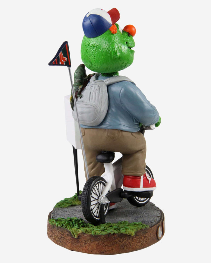 Wally The Green Monster Boston Red Sox Stranger Things Mascot On Bike Bobblehead FOCO - FOCO.com