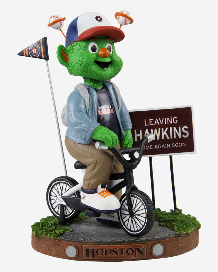Orbit Houston Astros Stranger Things Mascot On Bike Bobblehead FOCO - FOCO.com