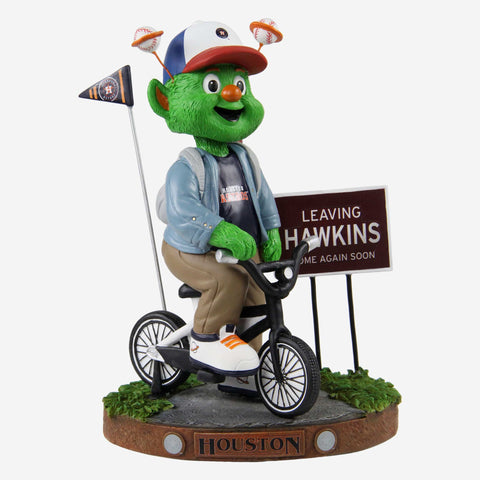 Orbit Houston Astros Stranger Things Mascot On Bike Bobblehead