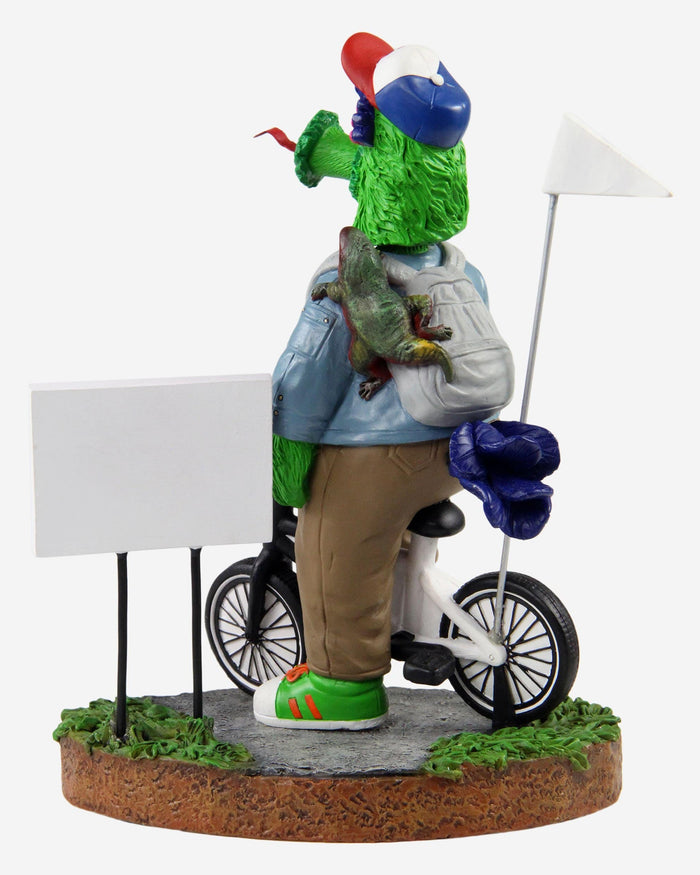 Phillie Phanatic Philadelphia Phillies Stranger Things Mascot On Bike Bobblehead FOCO - FOCO.com