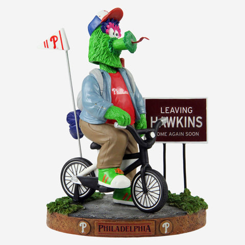Phillie Phanatic Philadelphia Phillies Stranger Things Mascot On Bike Bobblehead