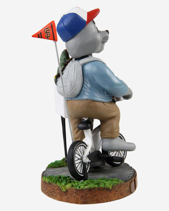 Lou Seal San Francisco Giants Stranger Things Mascot On Bike Bobblehead FOCO - FOCO.com