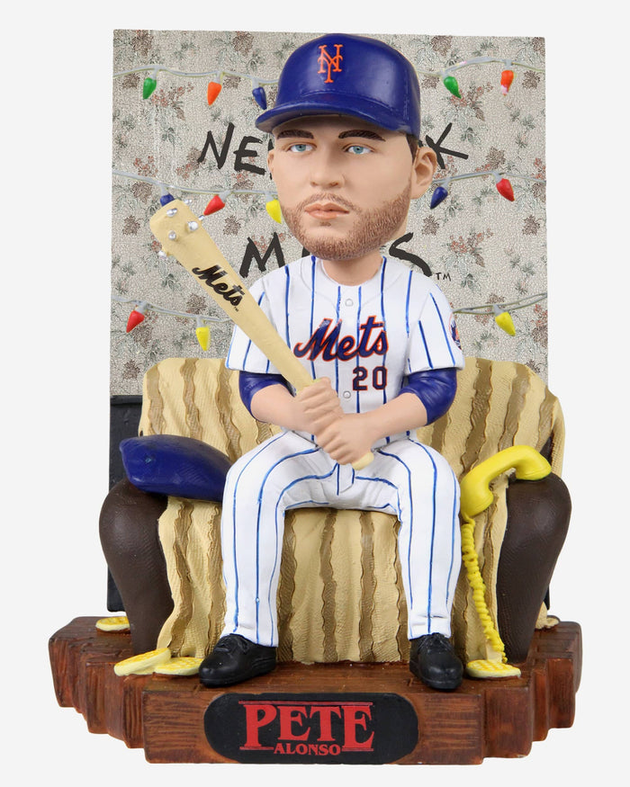Pete Alonso New York Mets Stranger Things Alphabet Wall Bobblehead FOCO - FOCO.com